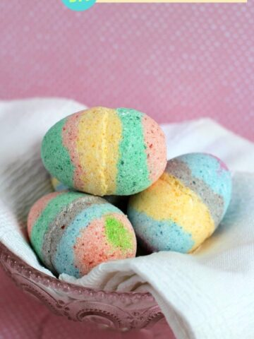 DIY Easter Egg Bath Bombs