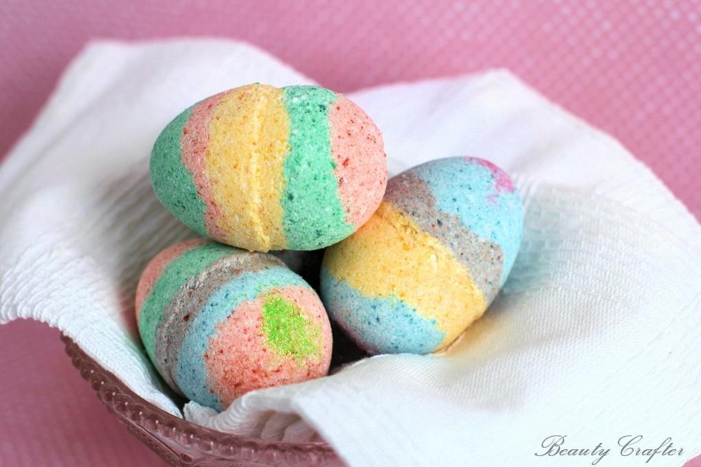 DIY Easter Egg Bath Bombs Recipe