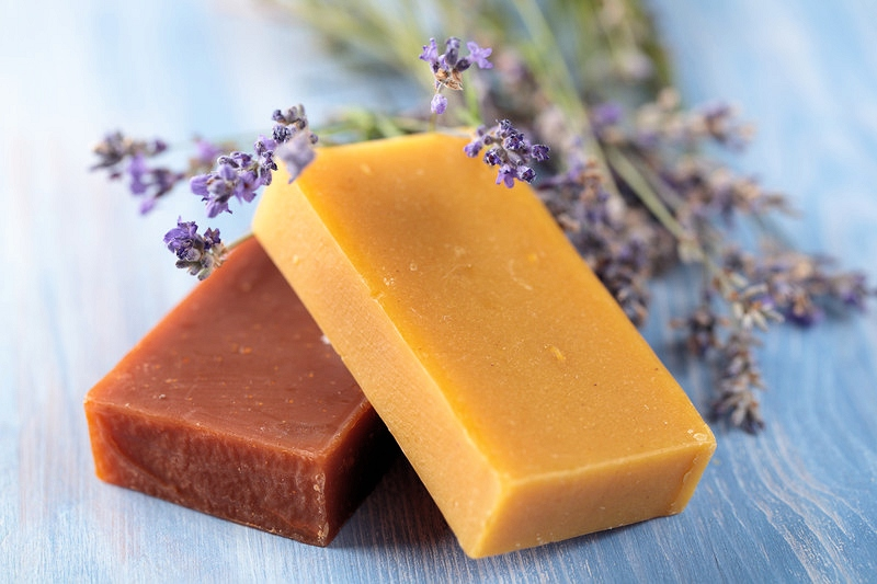 Make Herbal Soap with potted herbs
