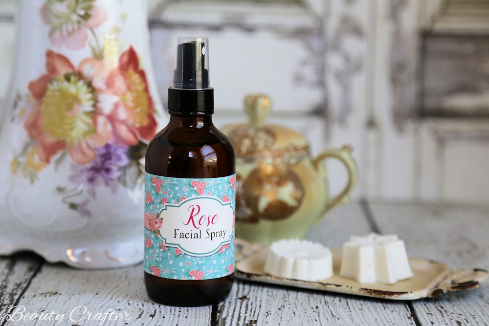 Rose Face Spray Recipe and Free Printable Labels