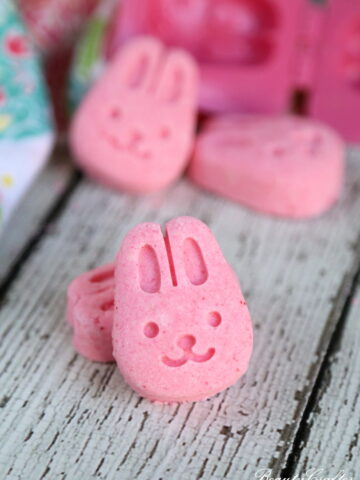 Easter Bath Bombs: Pink Bunny Lemongrass Bath Bombs