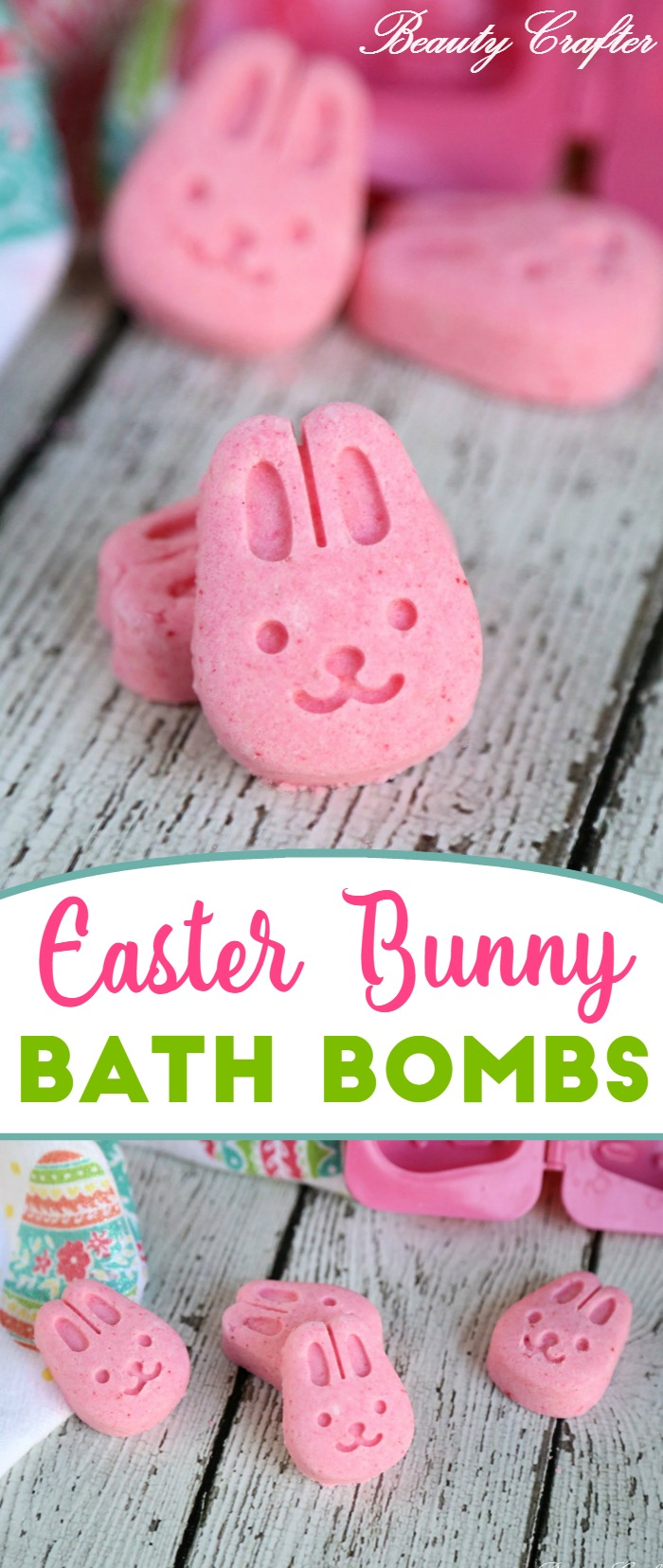 Easter Bath Bombs: Easter Bunny Craft - kids will love these