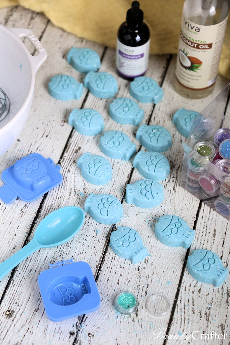 cute Bath Bombs ingredients, mold, making