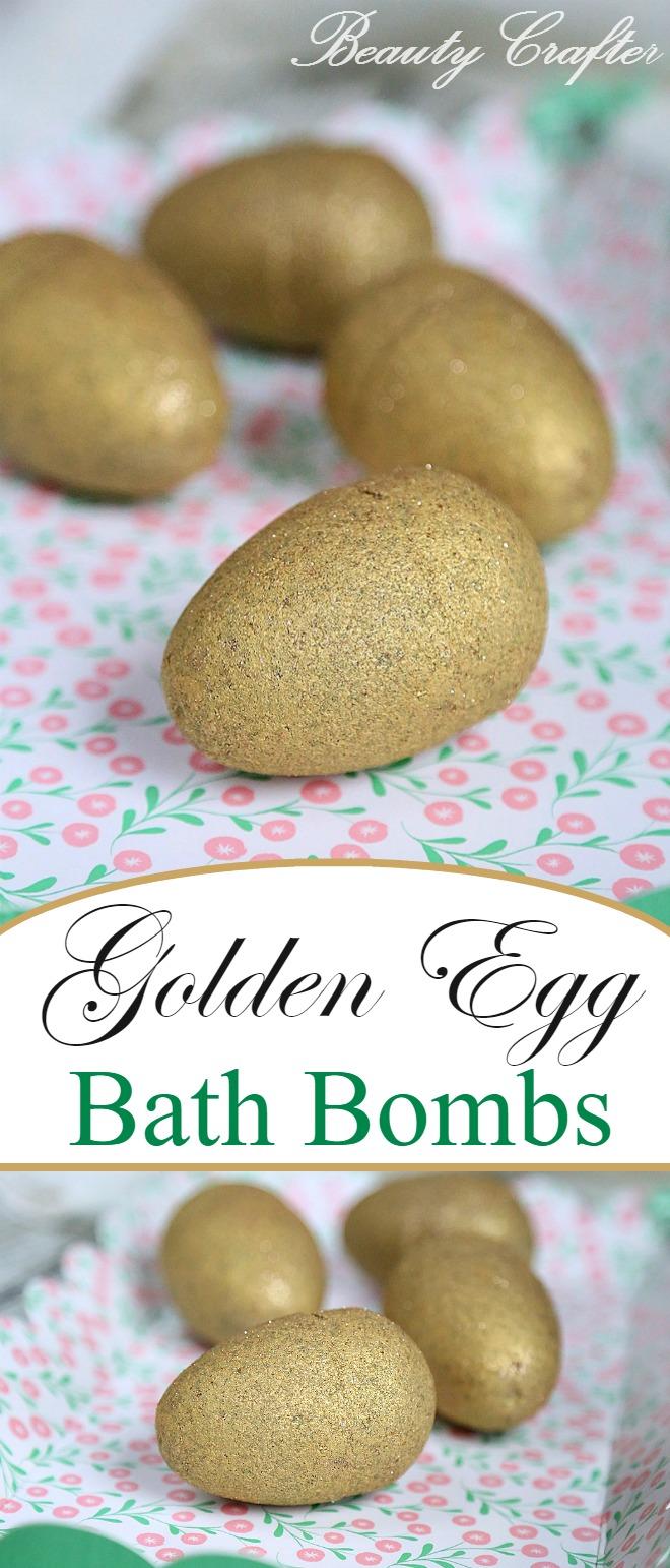 Golden Egg Bath Bomb DIY #gold #bathbombs #goldenegg