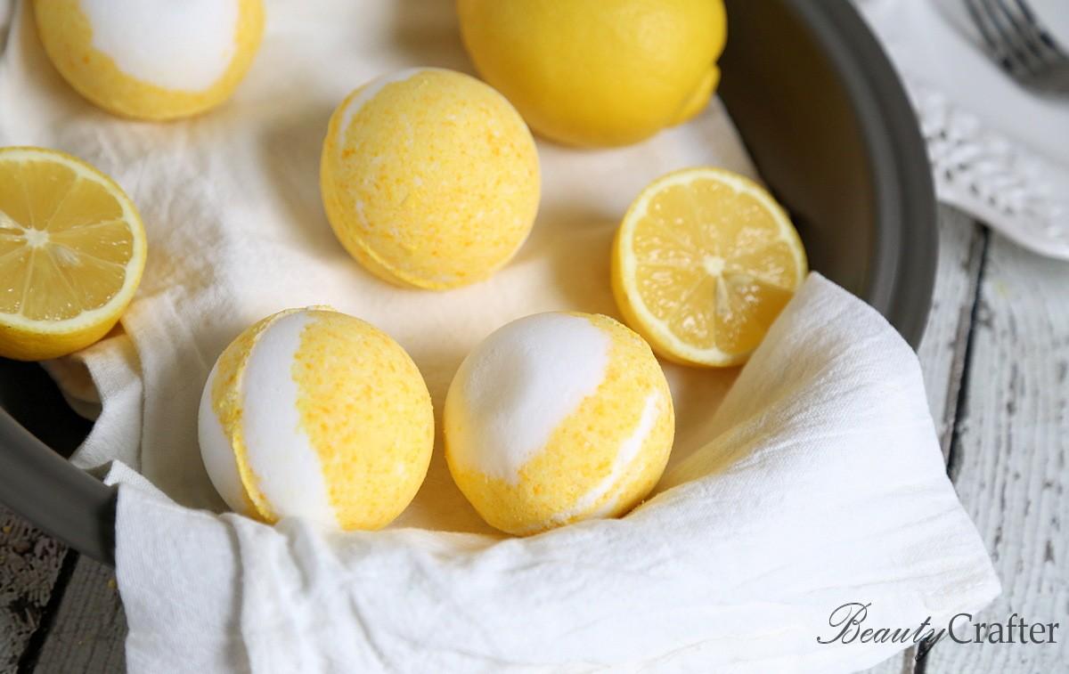 Lemon Meringue Bath Bombs