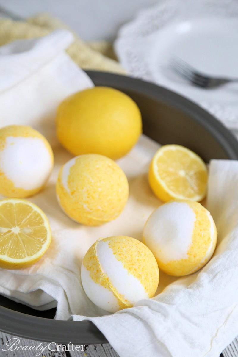 Lemon Meringue Pie Bath Bombs recipe