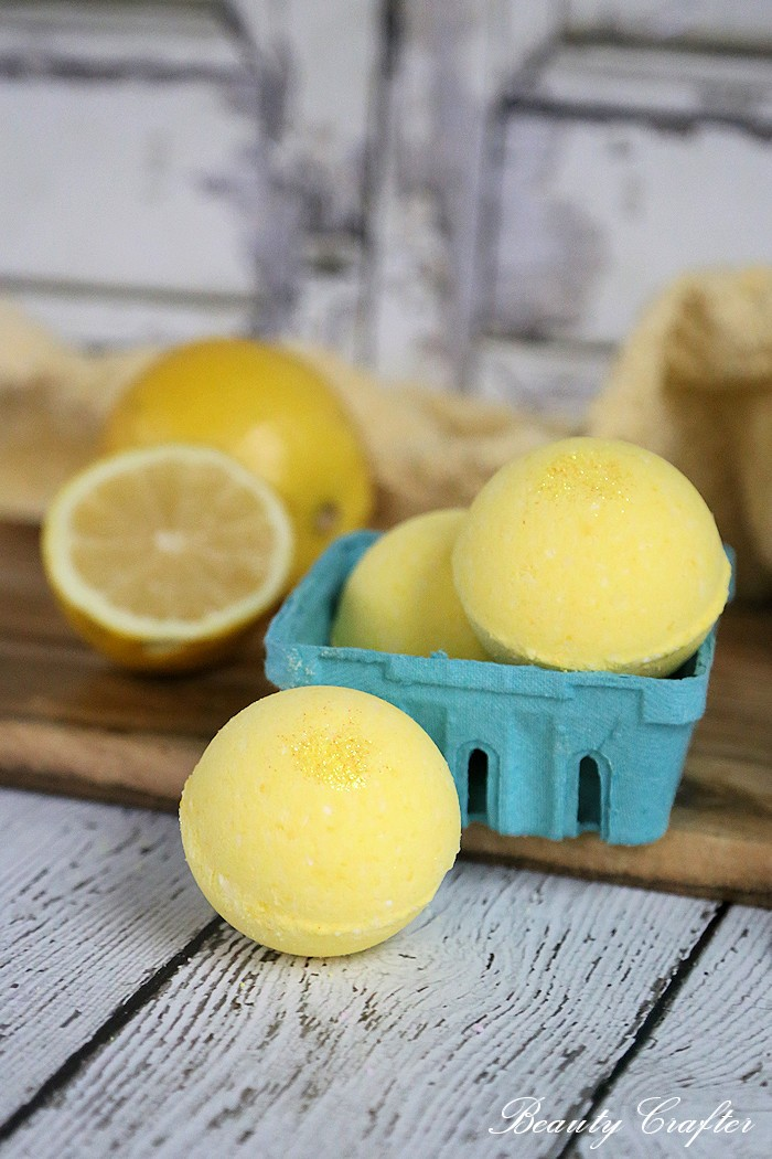 Lemon Bath Bombs Recipe Diy Lemonade Bath Fizzies
