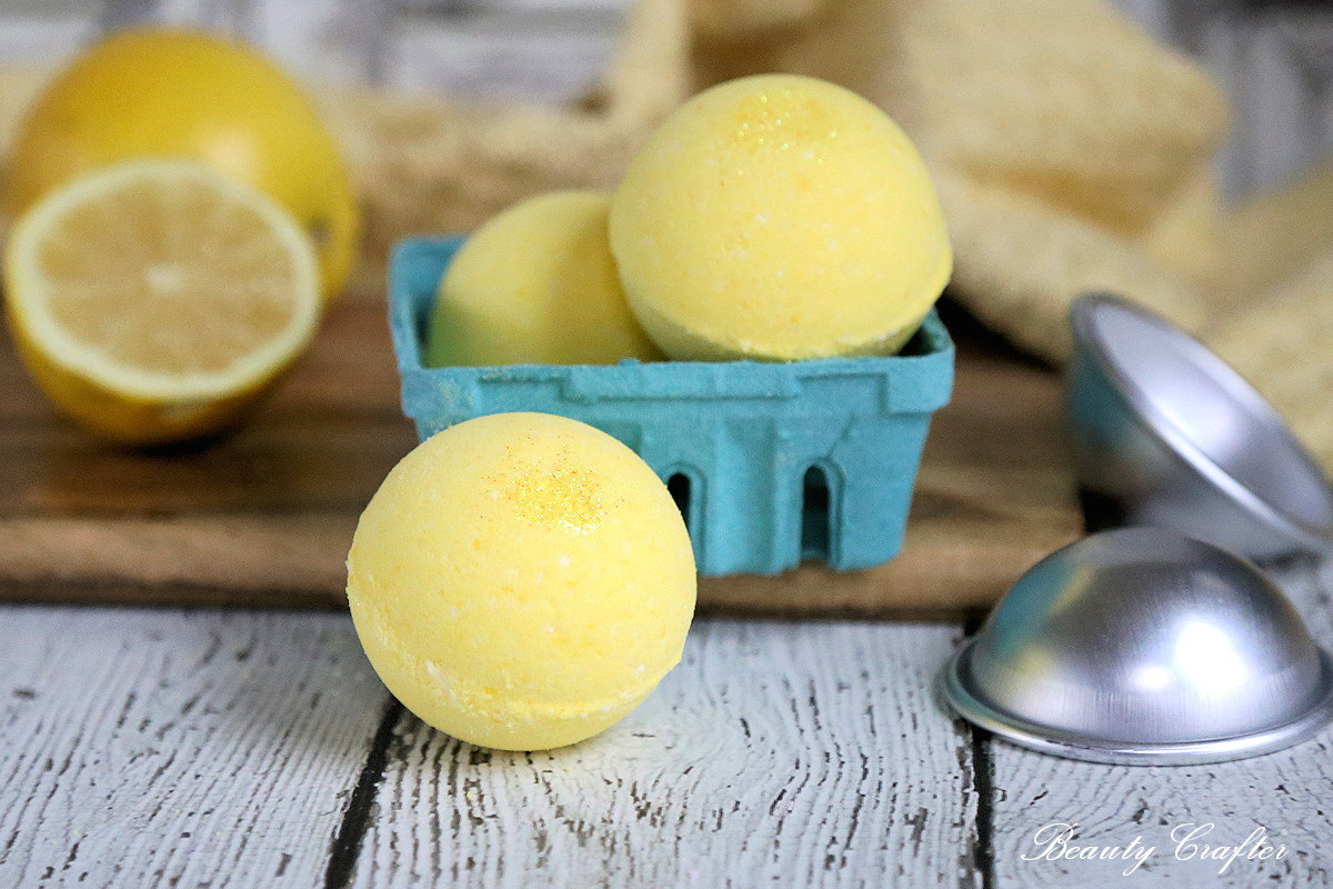 lemon bath bombs