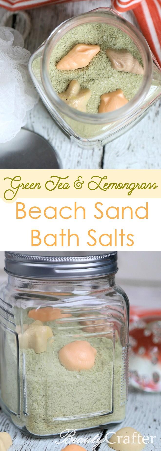 Green Tea & Lemongrass Beach Sand Bath Salts Recipe