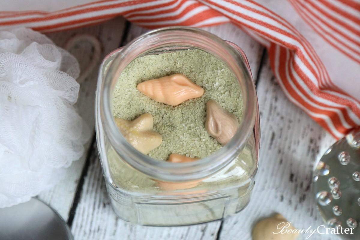 Green Tea Lemongrass Beach Sand Bath Salts