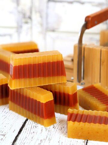 Frankincense Myrrh Soap with Orange and Honey