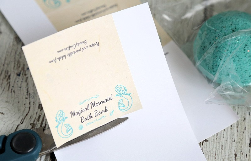 Mermaid Bath Bomb Printable Label