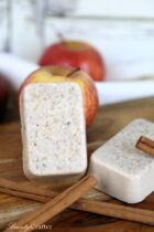 Apple Cinnamon Oatmeal Soap DIY