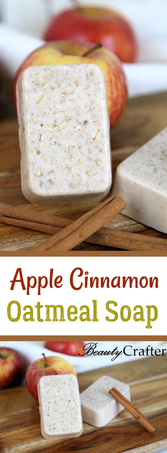 Apple Cinnamon Oatmeal Soap Recipe - easy DIY oatmeal soap