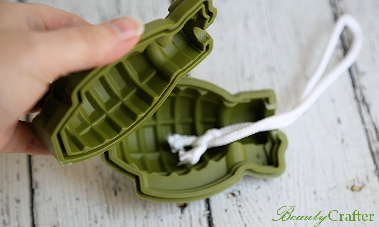 Grenade soap mold