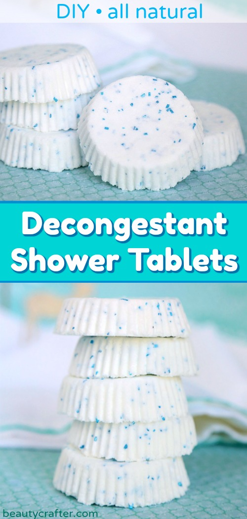 natural decongestant shower tablets