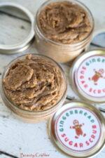 Gingerbread Sugar Scrub Recipe in jars