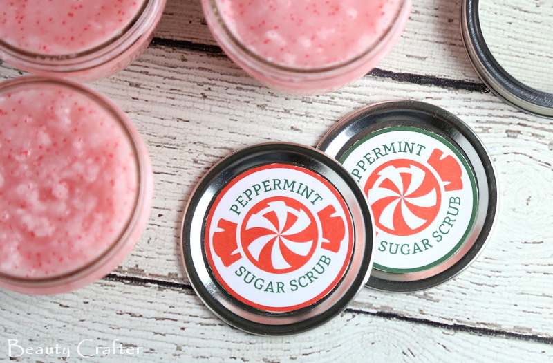 Peppermint Sugar Scrub Recipe Labels