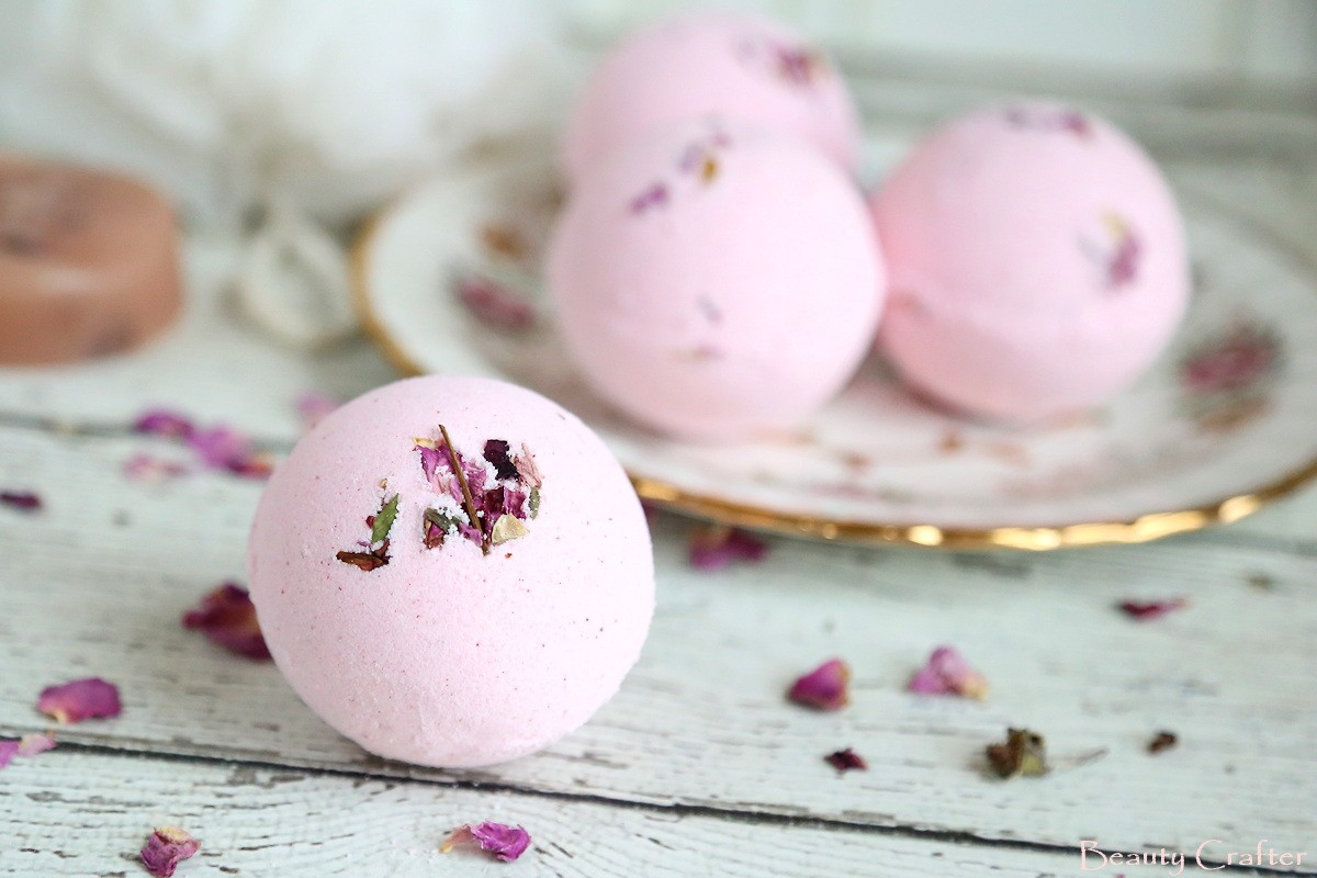 Rose Bath Bombs