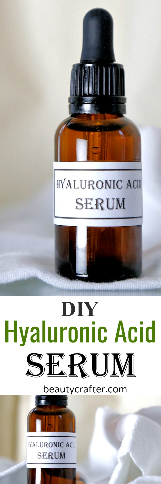 DIY Hyaluronic Acid Serum recipe - make your own anti-aging serum #skincare #beauty #antiaging