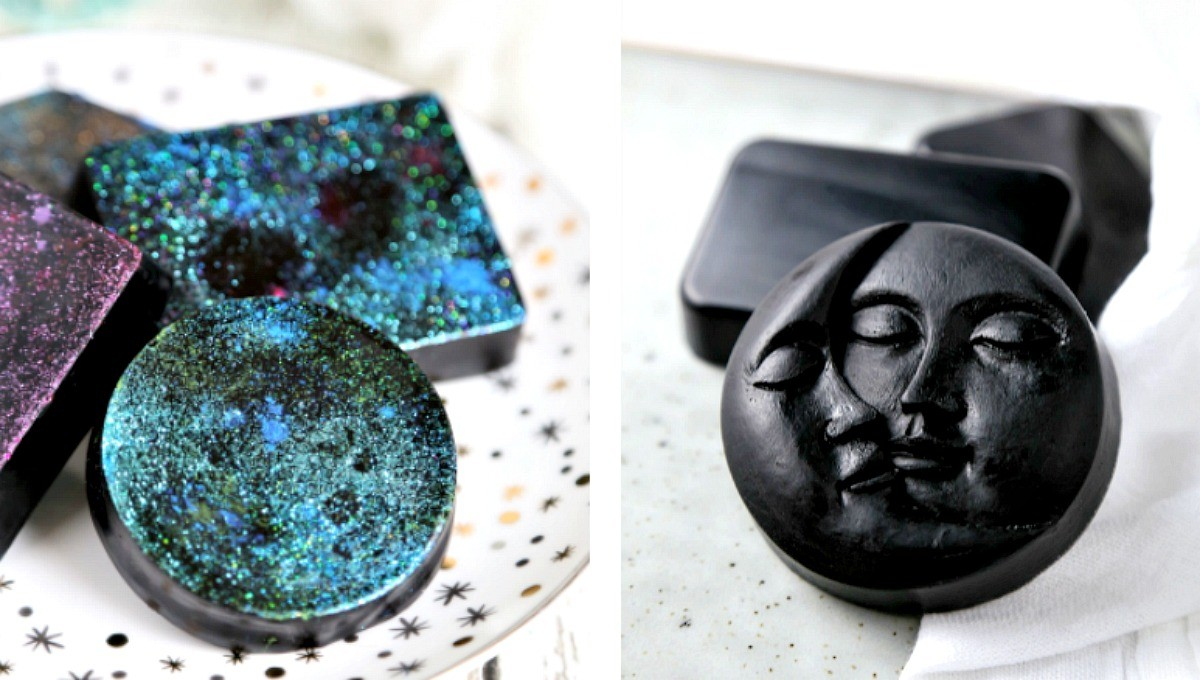 DIY Galaxy Activated Charcoal Soap