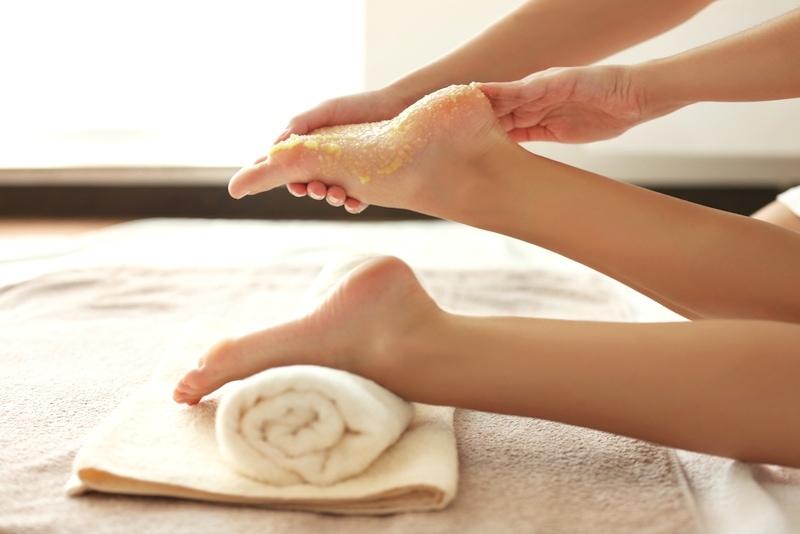 salt scrub for feet