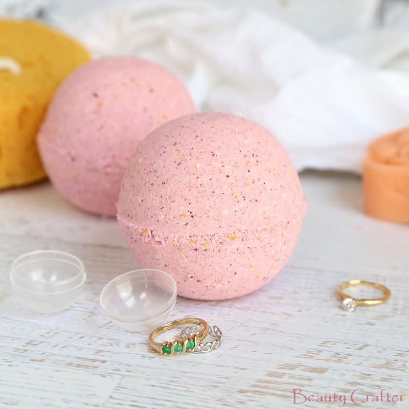 Bath Bombs with Rings Inside - DIY Jewelry Bath Bombs