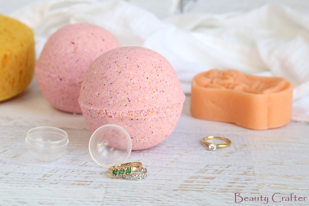 bath bombs with rings inside diy jewelry bath bombs