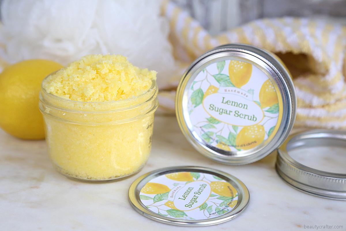 Lemon Sugar Scrub With Free Printable Labels Fabulous Diy Gift