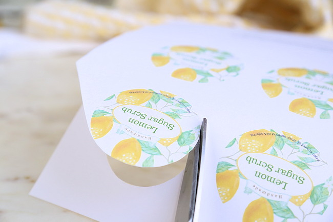 printable labels for lemon scrub