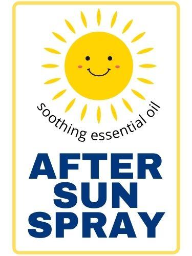 DIY sunburn spray labels