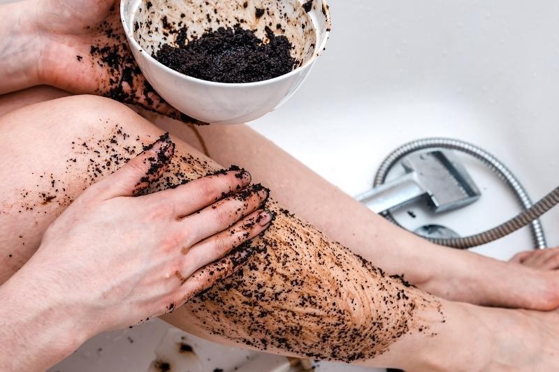 applying in shower