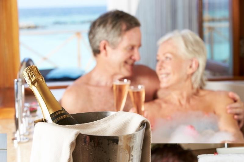 older couple in bath