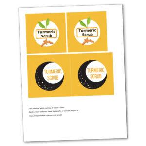 turmeric scrub labels image