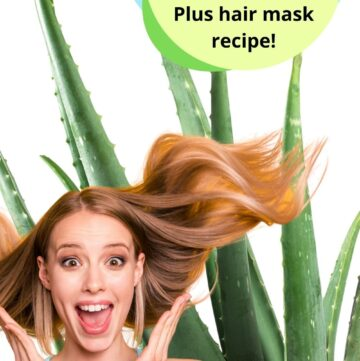 aloe vera for hair Pinterest image